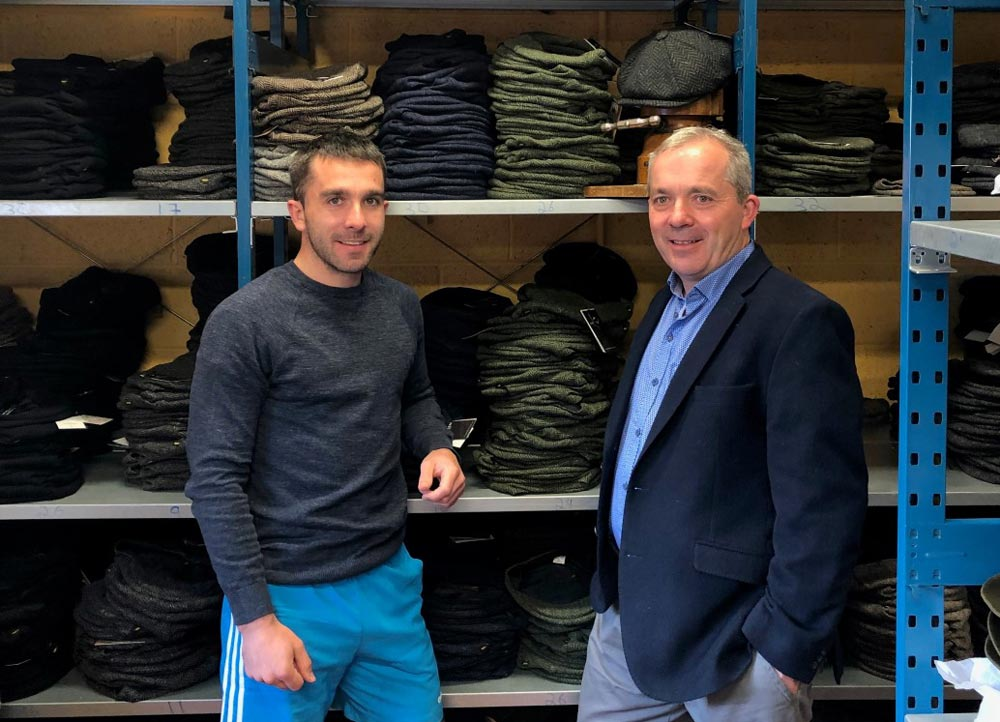 Gerry Moran (right), founder of Hatman Of Ireland, with his son Ray